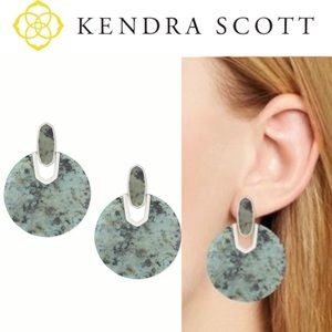 Kendra Scott Didi Silver In African Turquoise